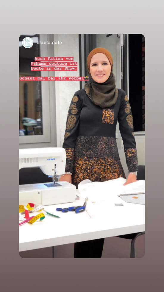 "Fatima Hamdaoui, alias Shams Couture in der Sendung ""Oh Näh"""