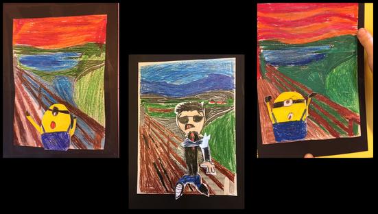 """Wir haben eine Neuinterpretation von Edvard Munch """"der Schrei"""" gefertigt."""
