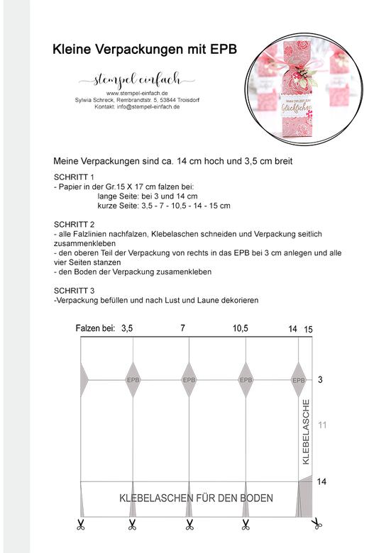 """Anleitung Goodies mit Stampin´ Up! Designerpapier """"In Liebe"""""""