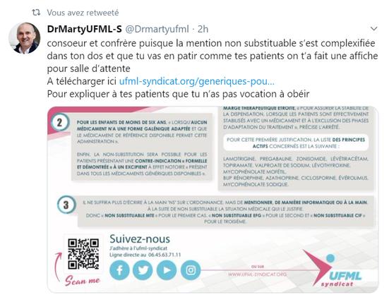 LES GENERIQUES - UFML Syndicat des médecins