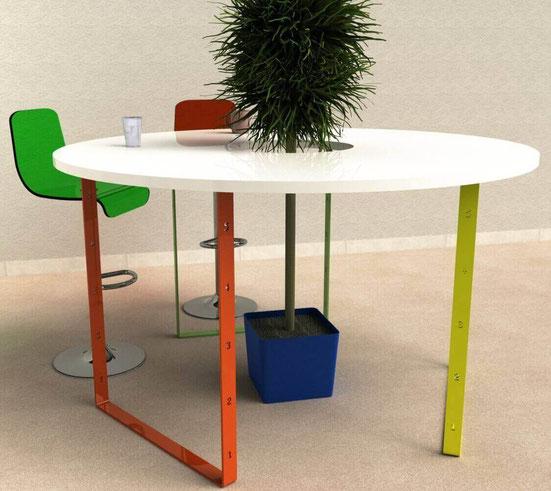 Idée décoration piedtable.fr, table ronde avec 3 pieds de table BaYa