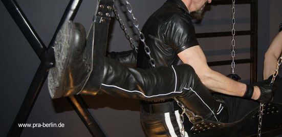 double sling, st. Andrews cross, chain, leather fuck, fist, leathermen