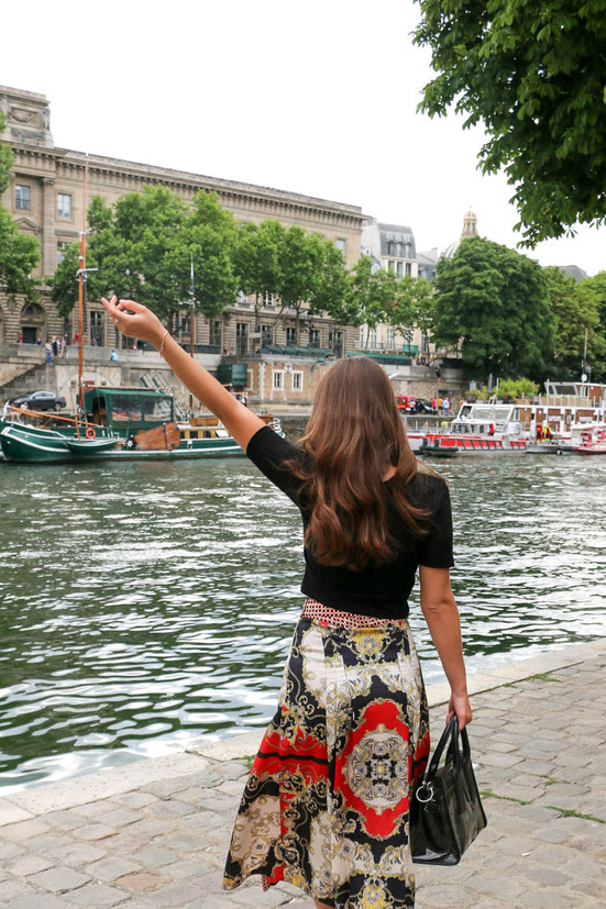 Printed Maxi Skirt, Paris, Carmen Schubert