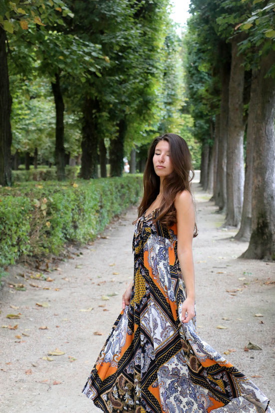 Print Maxidress, Paris, Carmen Schubert