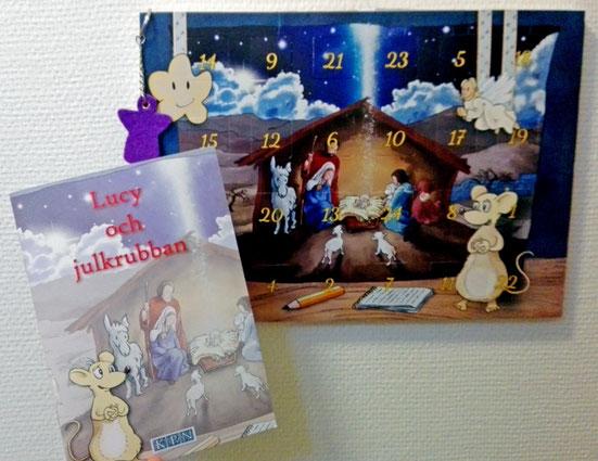 """Adventkalender """"Lucy och julkrubban"""" von der KPN."""