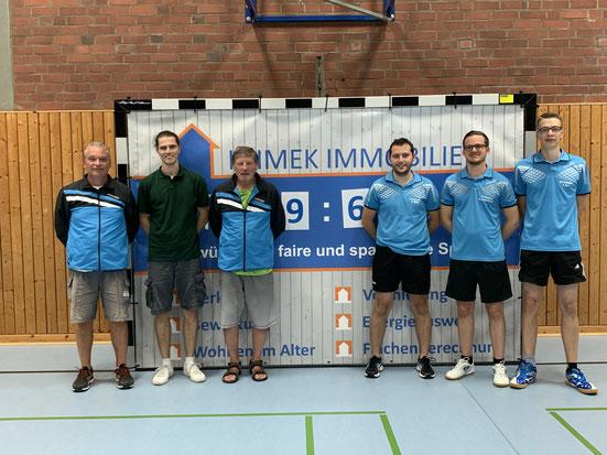 Die erfolgreiche erste Mannschaft (v. l. Guido Lenz, Daniel Jacquemien, Hans Frittmann, Kevin Müller, Michael Kleinschmager und Tobias Dörr)