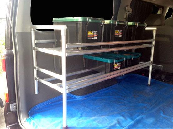 NV350キャラバンのベッドキットや棚を探すなら【トランポプロ】が簡単で良いですね!