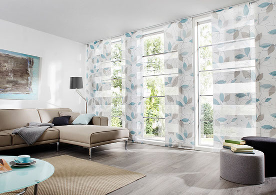 Flächenvorhang, Schiebegardinen, Schiebevorhänge, moderne Fensterdekoration