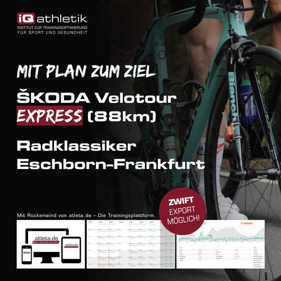 Trainingsplan Skoda Velotour Express beim Radklassiker Eschborn-Frankfurt