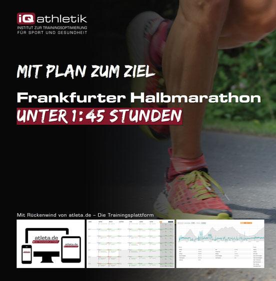 Trainingsplan Frankfurter Halbmarathon unter 1:45 Stunden