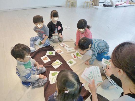 幼児教室正月・野菜かるた