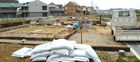 今、新しい花園が作られています