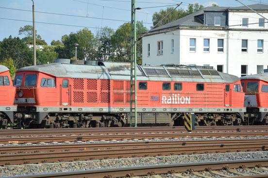 232 413-5 steht am 9. August 2018 am AW Chemnitz. Sie ist hier im DB Stillstandsmanagement abgestellt und steht zum Abtransport bereit