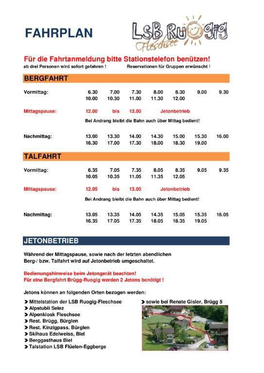 Fahrplan ab 1.11.2011