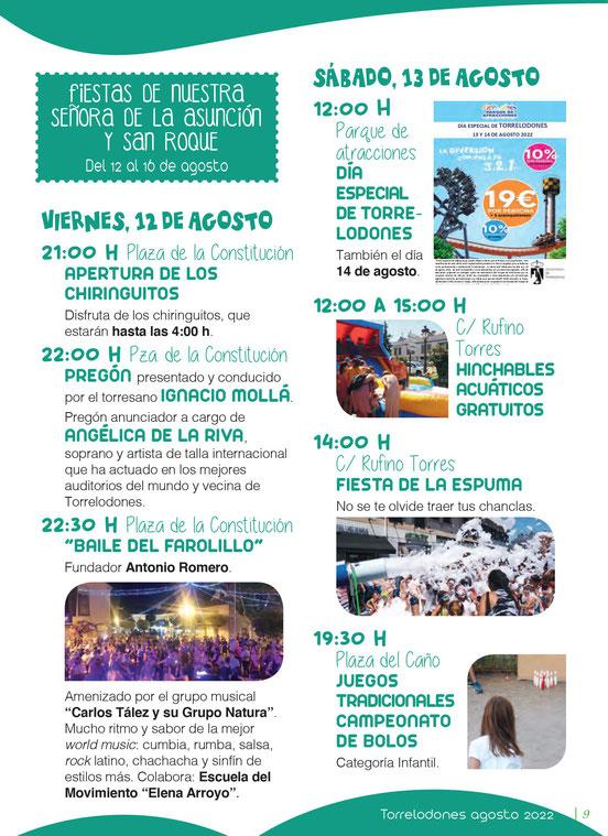 Programa de las Fiestas de Torrelodones