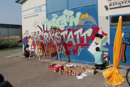 Graffiti-Workshop in Lahr für die NAL