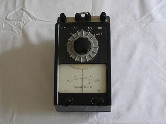 MWS Gerätewerk Schlotheim DDR  Multifunktions Erdungs Messgerät von 1960