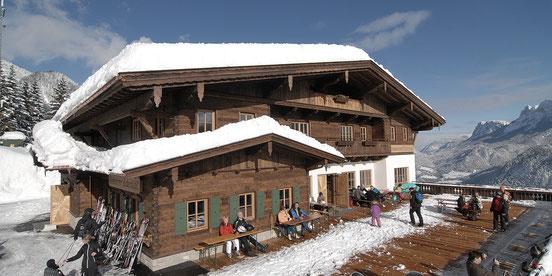 gasthaus bergstation loderbichl almenwelt lofer hottelerie & gewerbe - holzbau herbst  | unken | salzburg
