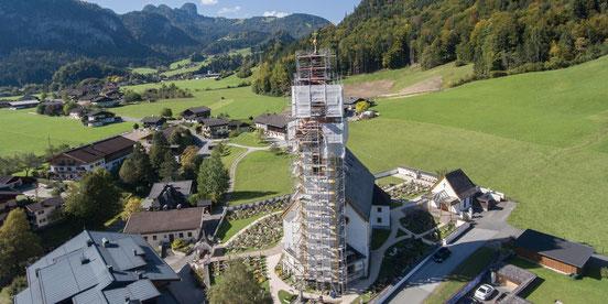 steinalmdorf leogang chalet alpen luxus hottelerie & gewerbe - holzbau herbst  | unken | salzburg