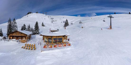 kuhbar lofer almenwelt apres ski holzbau hottelerie & gewerbe - holzbau herbst  | unken | salzburg