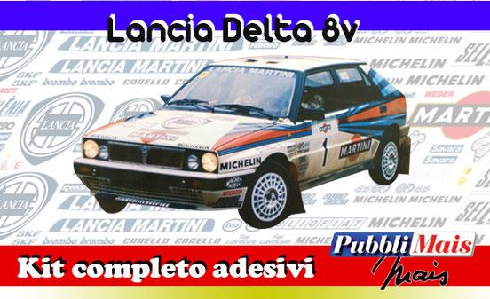 price cost kit complete stickers decals sponsor lancia delta 8v martini online shop pubblimais