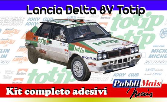 price cost kit complete stickers decals sponsor lancia delta 8v totip online shop pubblimais 1988 1989 fiorio