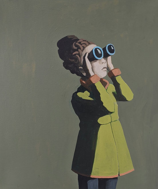 binoculars - Acryl auf Leinwand, 60x50cm, 2020