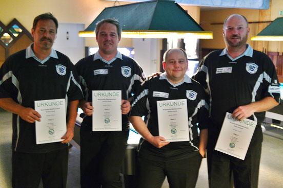 3. Platz LMM Senioren: Helmut Kulig, Wolfgang Buchwald jun., Manuel Blechl, Harald Holzner