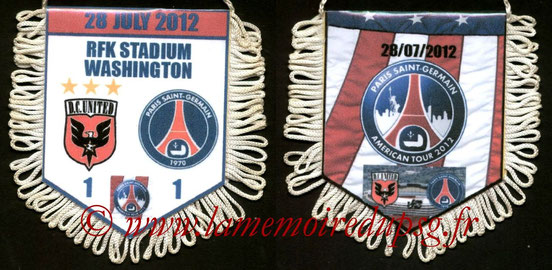 Fanion  D.C. United-PSG  2012-13