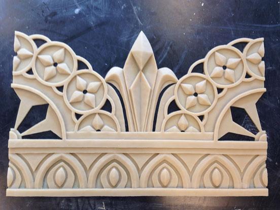 Ornament 'Bayadere' // Bühnenplastik: Deike Heeren // Bühnenbild: Jérôme Kaplan // plastische Gestaltung, Abguss