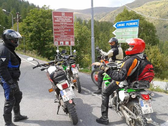 Ligurische Grenzkammstraße KLX250S XT550 XR600R