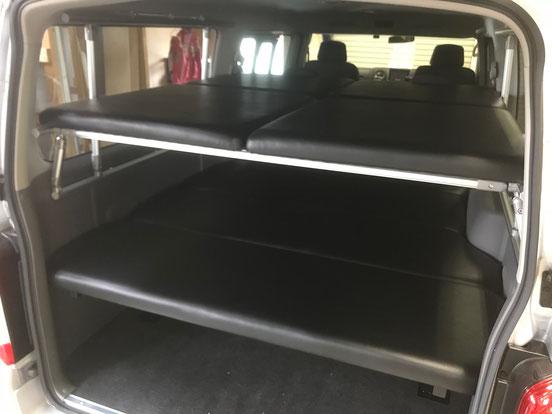 NV350キャラバン 二段ベッド ハイエースに二段ベッド ベッドキット取り付けはOSPトランポキットです!