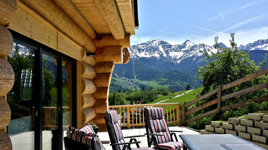Absorb the summer sun and breathe in the fresh air on your own chalet terrace