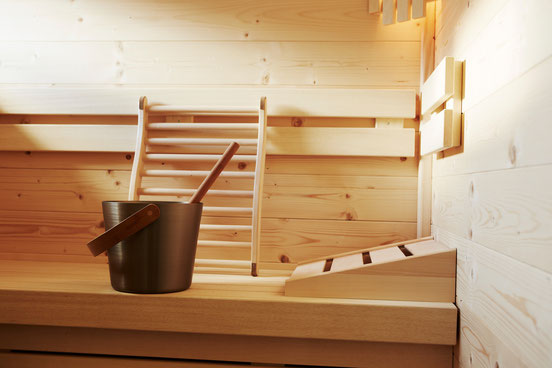 Hot finnish and  steam sauna garantee deep relaxation in every chalet