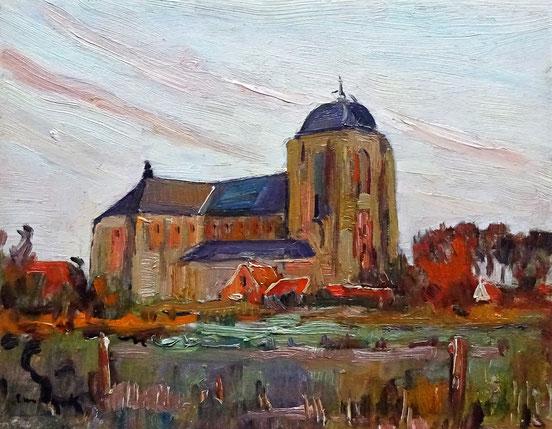 Alfons van Dijck, Veere. schilderij Veere te koop.