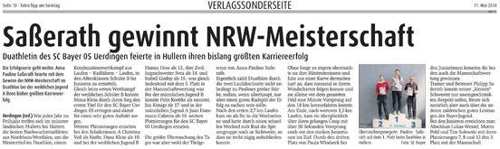 Saßerath gewinnt NRW-Meisterschaft