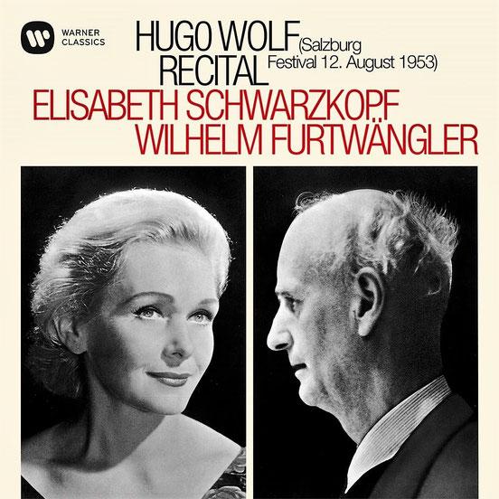 ヴォルフ 歌曲集  (1953年ザルツブルク・ライブ)  エリーザベト・シュヴァルツコップ(ソプラノ)  ウィルヘルム・フルトヴェングラー(ピアノ)