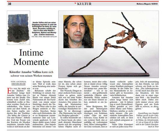 Amador Vallina: Intime Momente, Mallorca Magazin, 11.03.2010