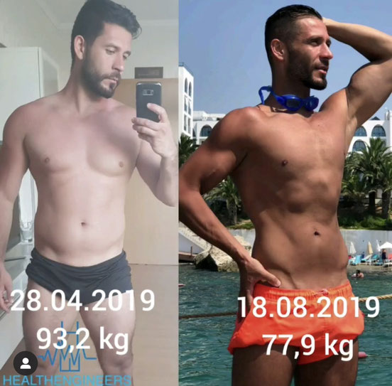 Salih Sara mit Body Transformation Muskelaufbau und Fettabbau
