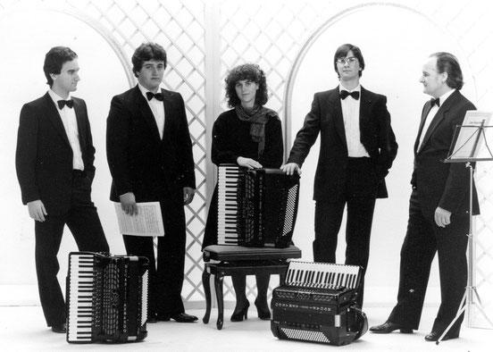 Da sinistra: Alessandro Mugnoz, Andrea Carnevalini, Miriam Mugnoz, Fabrizio Sbacco e Edgardo