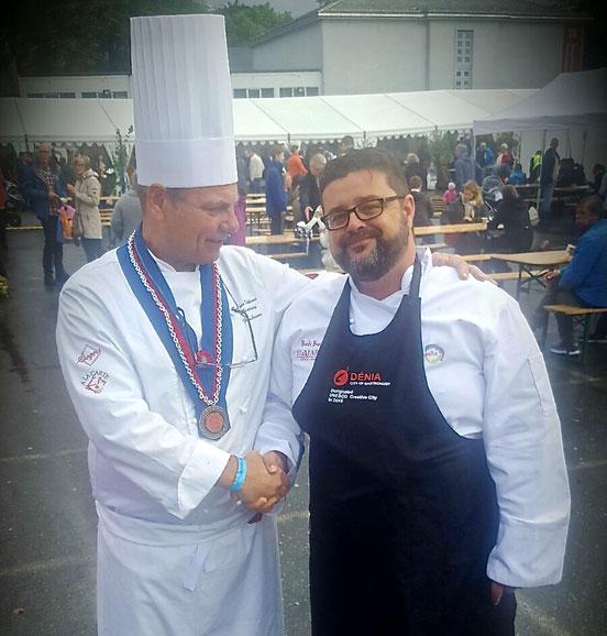 Bati Bordes (El Marino Dénia) felicitado por el colectivo de chefs de Bergen (Noruega)