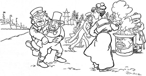 Caran d'Ache, Krüger. John Grand-Carteret (1850-1927) : Chinois d'Europe et Chinois d'Asie. 175 images satiriques, pour servir à l'histoire des chinoiseries de la politique européenne de 1842 à 1900.