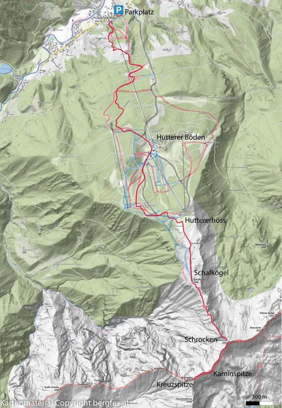 Wanderung auf den Schrocken, die Kaminspitze und die Kreuzspitze ausgehend von Hinterstoder.