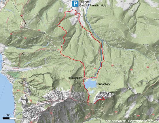 Wanderung auf den Katzenstein dem kleinen Bruder des Traunsteins. Weg über den Laudachsee auf den Gipfel.