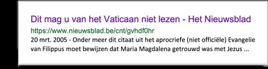 Dit mag u van het Vaticaan niet lezen. Evangelie van Filippus - Maria Magdalena