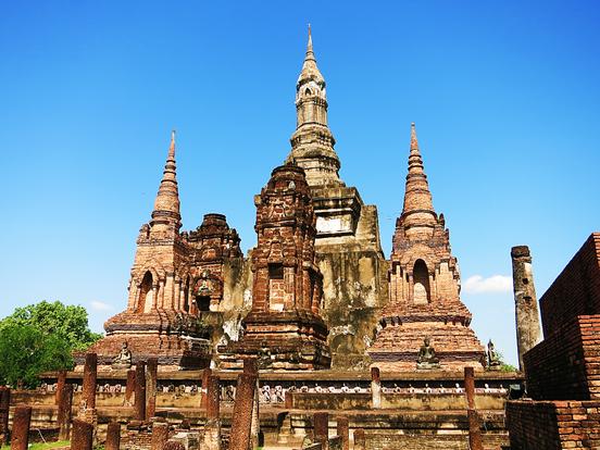 Teil des Wat Mahathat im  Geschichtspark Sukhothai