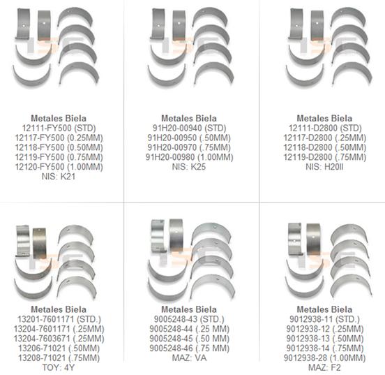 metales biela motor partes refacciones montacargas mexico