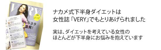 大阪下半身ダイエット専門整体サロンのナカメ式下半身ダイエットは女性誌VERYの取材を受けました