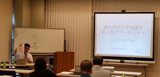 写真7 ワークショップ「鍼灸系大学における臨床研究のあり方」の司会の若山先生