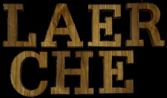 Holzbuchstaben Lärche